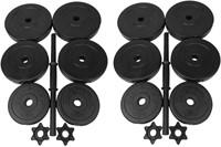 Tunturi Vinyl Dubbele Dumbbellset 30kg - Verpakking beschadigd
