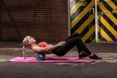 Tunturi yoga grid foam rollers blauw model 2