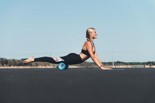 Tunturi yoga grid foam rollers blauw model 3