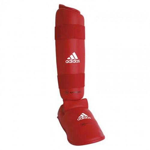 Adidas WKF Scheenbeschermers met Verwijderbare Voet - Rood