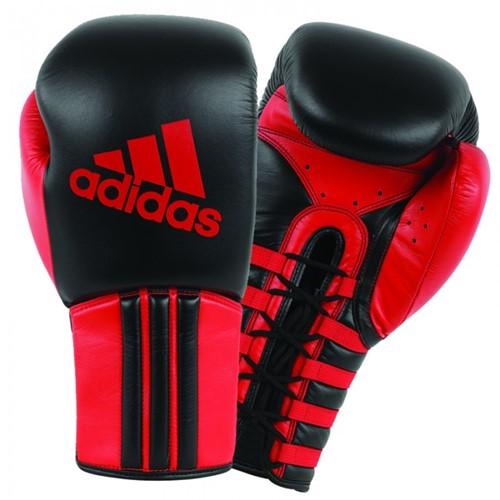 Adidas Safety Sparring Bokshandschoenen met Vetersluiting - Zwart/Rood
