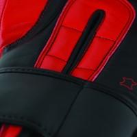 Adidas Safety Sparring Bokshandschoenen Velcro Zwart-Rood-3