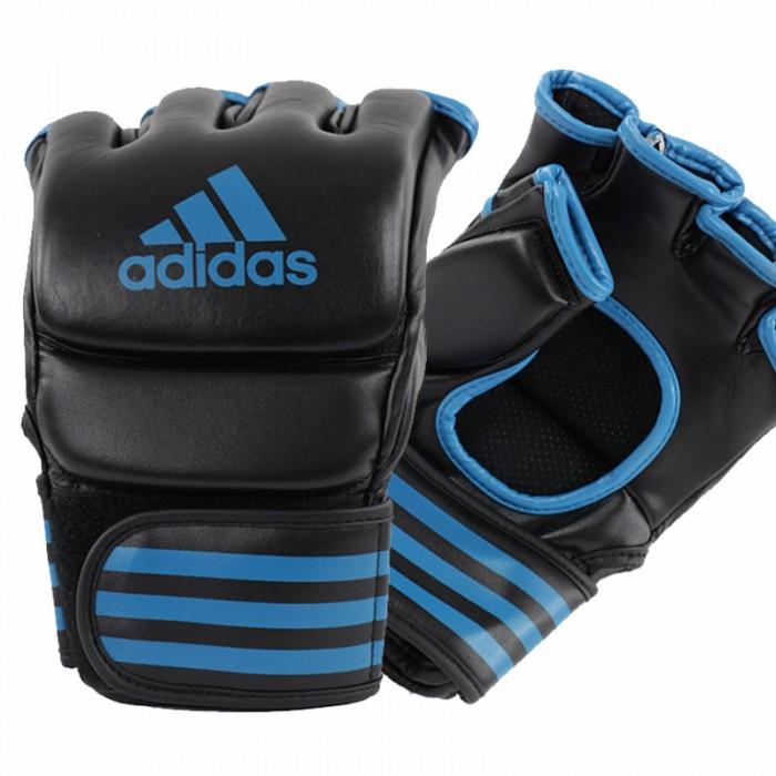 Adidas Traditional Grappling Handschoenen Zwart-Blauw
