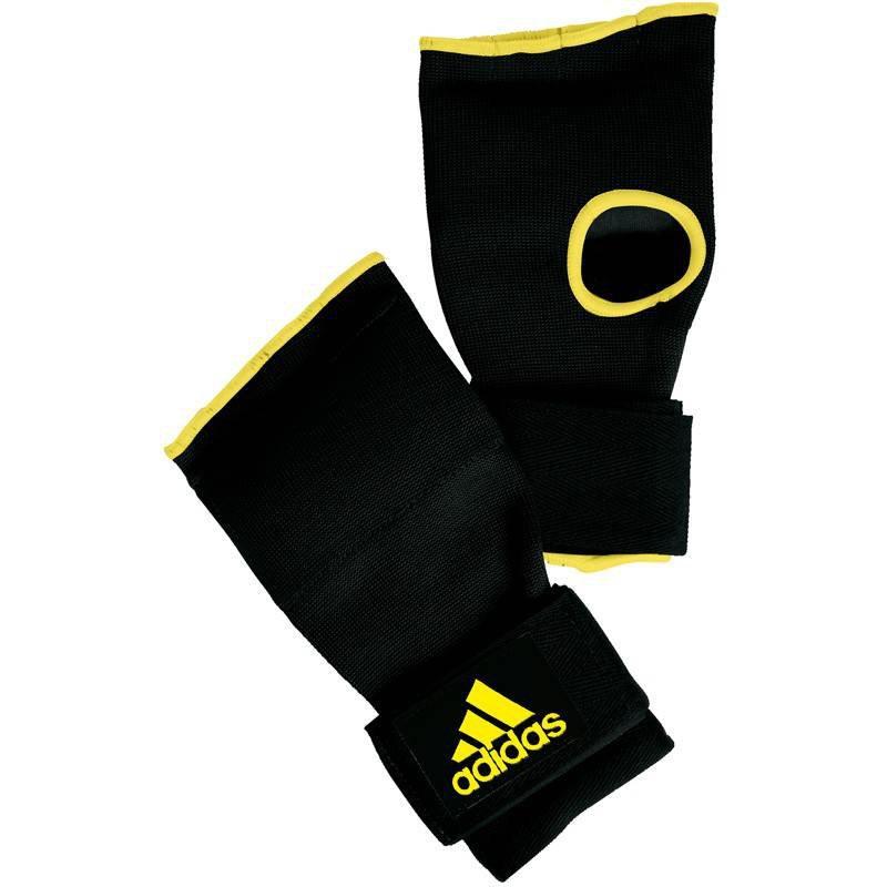 Adidas Gevoerde Binnenhandschoen Met Bandage Zwart-Geel S