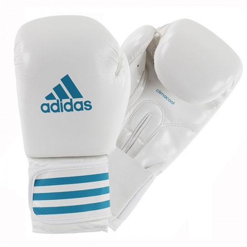 Adidas Female Power 200 (Kick)Bokshandschoenen Wit-Blauw