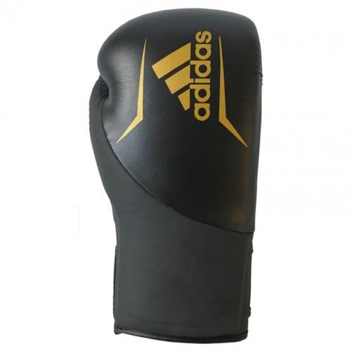 Adidas Speed 200 (Kick)Bokshandschoenen - Zwart/Goud - 14 oz