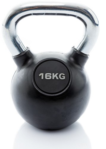 Muscle Power Rubberen Kettlebell - 16 kg