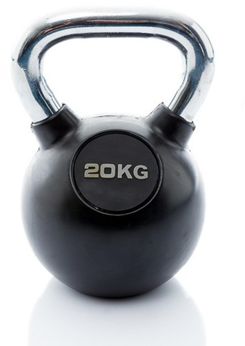 Muscle Power Rubberen Kettlebell - 20 kg