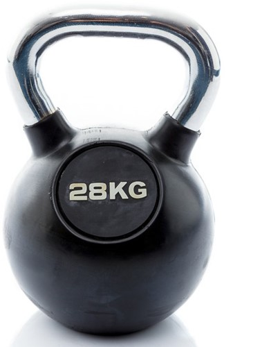 Muscle Power Rubberen Kettlebell - 28 kg