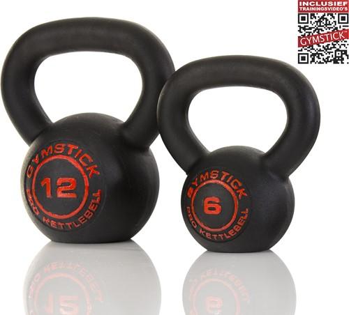 Gymstick Pro Kettlebell - Zwart - Met Online Trainingsvideo's - 28 kg