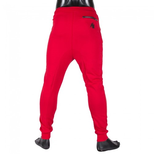 Gorilla Wear Alabama Drop Crotch Joggers - Red-3