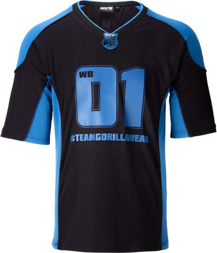 Gorilla Wear Jersey 2.0 William Bonac - Marineblauw/Zwart