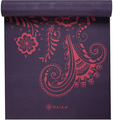 Gaiam Yoga Mat - 6 mm - Aubergine Swirl
