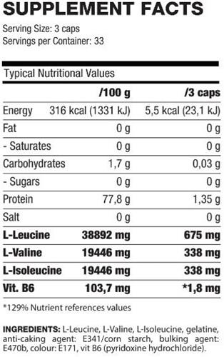 QNT BCAA's + Vitamine B6 - 100 caps-2