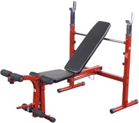 Body-Solid (Best Fitness) Olympic Bench - Rood-1