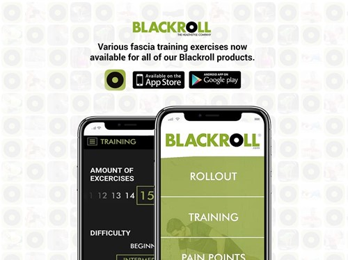 Blackroll med foam roller app