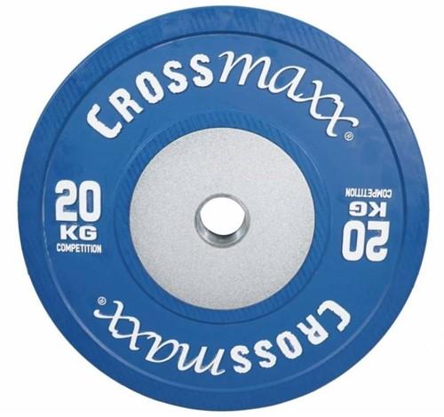 Lifemaxx Crossmaxx Competition Bumper Plate - Halterschijf - 50 mm - 20 kg