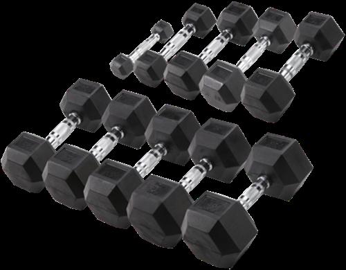 Body-Solid Hexagon Dumbbell  Set - Rubber - 1 tot 10 kg