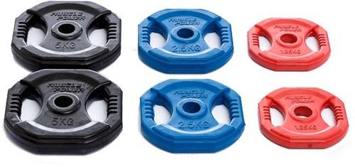 Muscle Power Aerobic Pump Halterschijf - 30 mm - 5 kg - Zwart - Per stuk