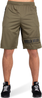 Gorilla Wear Branson Shorts - Zwart/Legergroen-2