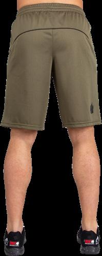 Gorilla Wear Branson Shorts - Zwart/Legergroen-3