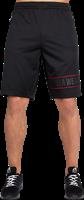 Gorilla Wear Branson Shorts - Zwart/Rood-2
