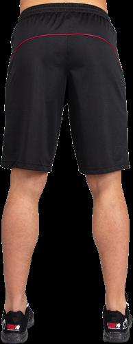 Gorilla Wear Branson Shorts - Zwart/Rood-3