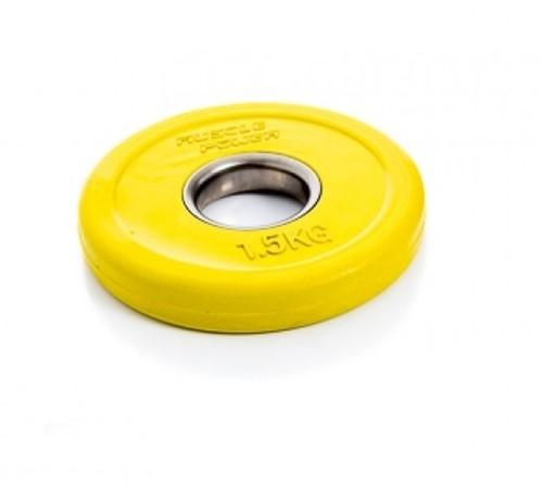 Muscle Power Fractional Olympic Bumper Plate - Halterschijf - 50 mm - 1,5 kg