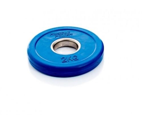 Muscle Power Fractional Olympic Bumper Plate - Halterschijf - 50 mm - 2 kg