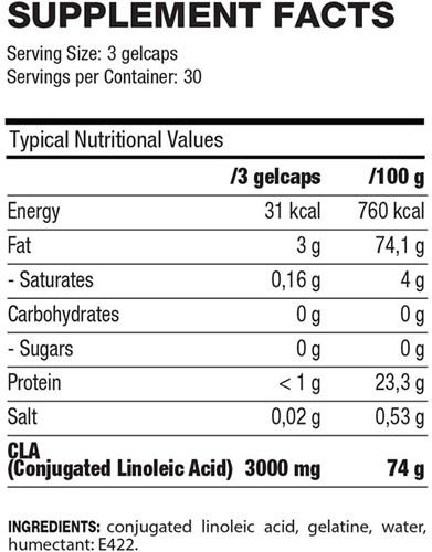 QNT CLA (100% pure) - 90 caps-2