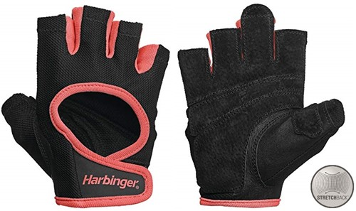 Harbinger Women's Power Stretchback Fitness Handschoenen - Coral