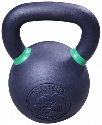 Lifemaxx Crossmaxx Kettlebell - Gietijzer met Poedercoating - 28 kg