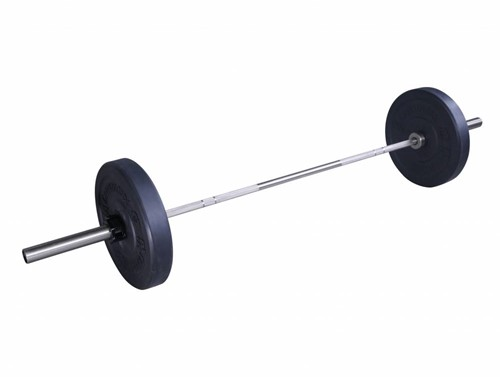 Lifemaxx Crossmaxx Olympische Halterstang - 220 cm (50 mm) - Chroom-2