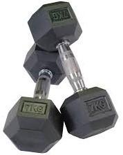 DKN Hexagonale rubberen Halters - 7 kg