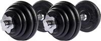 VirtuFit Dumbellset Gietijzer 2 x 15 kg (30 kg)-1