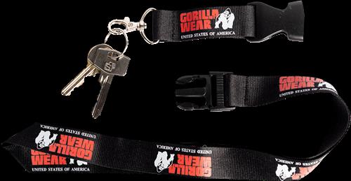Gorilla Wear Eloy Lanyard Keycord - Zwart / Rood