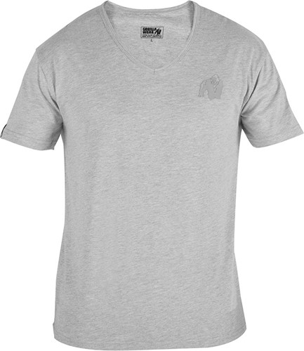 Gorilla Wear Essential V-Neck T-Shirt - Grijs