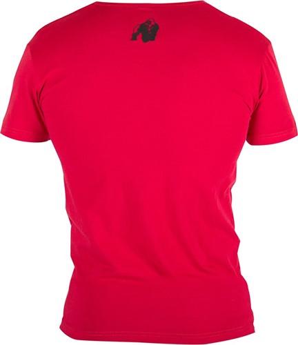 Gorilla Wear Essential V-Neck T-Shirt - Red-2