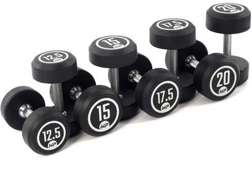 Muscle Power Ronde Rubber Dumbbell Set - 8 x 12,5-20 kg
