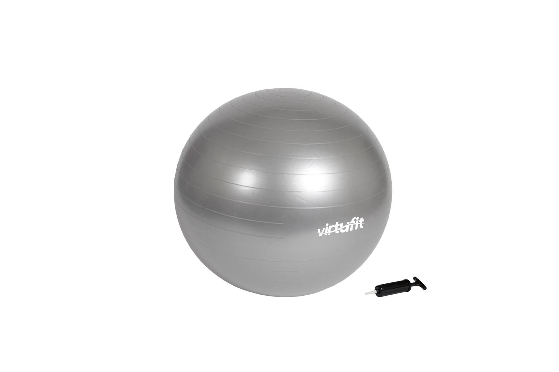VirtuFit Anti-Burst Fitnessbal Grijs 65 cm met pomp
