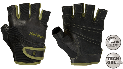 Harbinger Men's FlexFit Wash & Dry Fitness Handschoenen - Groen