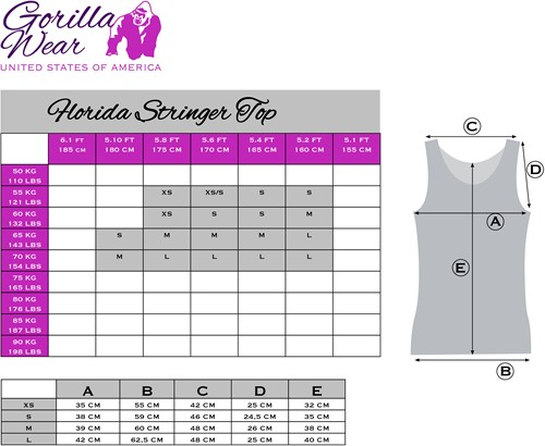 Gorilla Wear Florida Stringer Tank Top - Gray/Pink