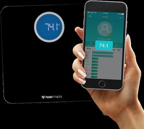 Flow Fitness Bluetooth Smart Scale Weegschaal