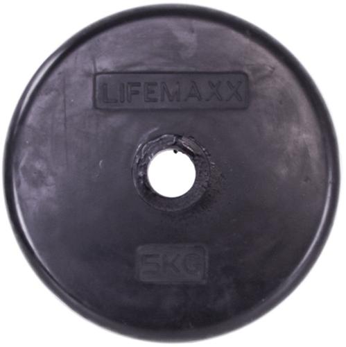 Lifemaxx LMX84 Halterschijf - Rubber - 30mm - 5kg - Per stuk
