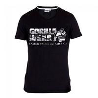 Gorilla Wear Sacramento V-Neck T-Shirt - Black/White