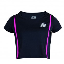 Gorilla Wear Columbia Crop Top Black/Pink