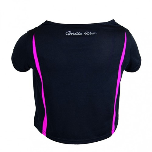 Gorilla Wear Columbia Crop Top Black/Pink