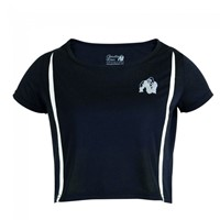 Gorilla Wear Columbia Crop Top - Black/White