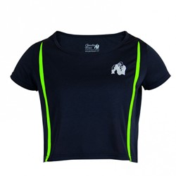 Gorilla Wear Columbia Crop Top Black/Neon Lime