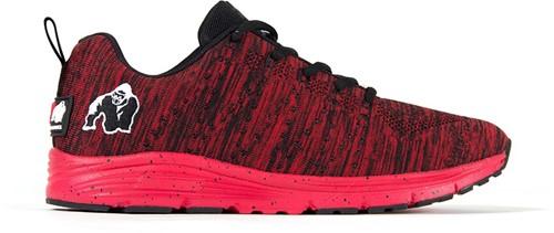 Gorilla Wear Brooklyn Knitted Sneakers (unisex) - Red/Black